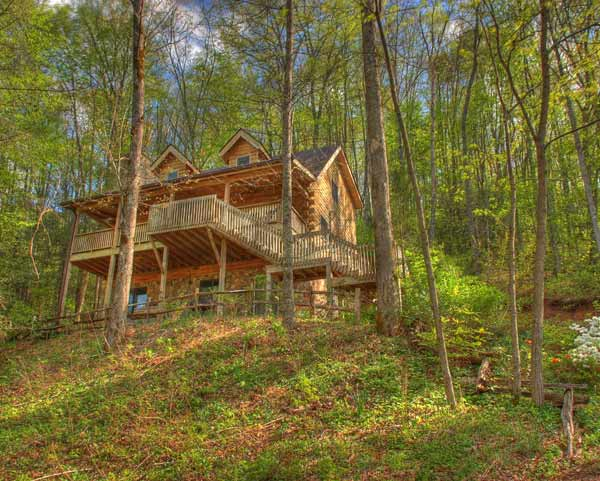 Private Log Cabin Vacation Home For Rent Lake Nantahala