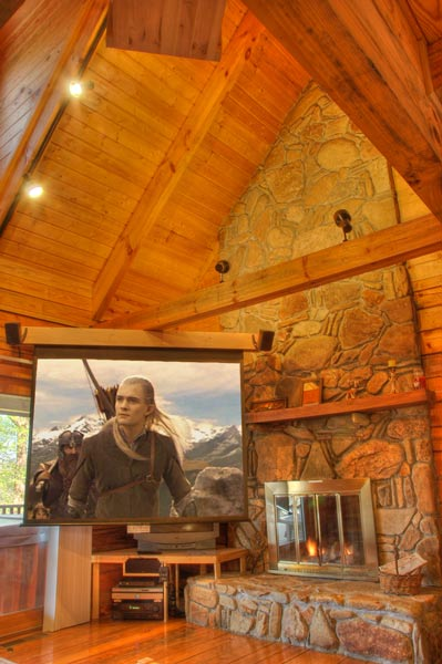 Private Mountain Lake View Log Cabin Home With Billiard