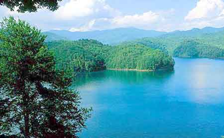 Fontana Lake Appalachian Mountains Of Graham County And Swain County In  Western North Carolina   North