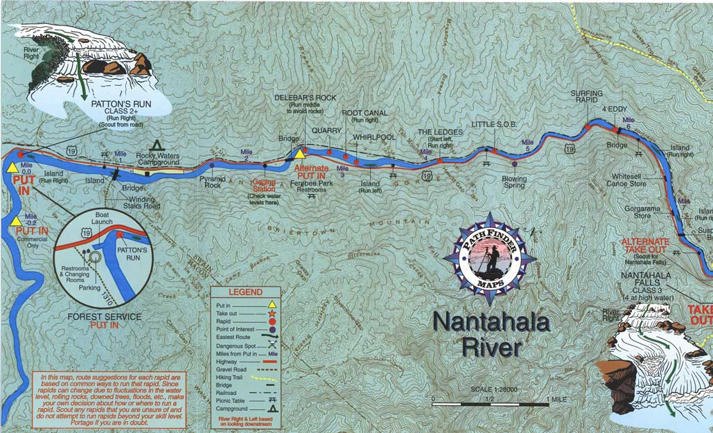nantahala river map